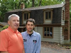 Dan Driscoll helped his son, Dan, buy this home near his own in Towson, Md.