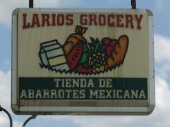 A sign at a grocery store in De Pue, Ill.