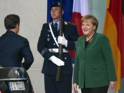 German Chancellor Angela Merkel welcomes French President Nicolas Sarkozy on Sunday in Berlin for a key summit on steps to combat debt turbulence.