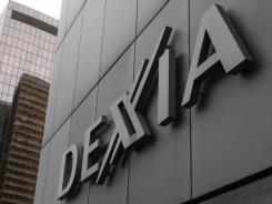 The logo of Dexia bank is seen in La Defense business district, near Paris.
