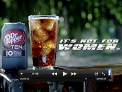 This video frame grab provided by the Dublin Dr Pepper Bottling Co., shows the new Dr Pepper TEN beverage.