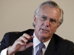Dallas Federal Reserve President Richard Fisher is photographed during an interview by The Associated Press, in New York,  Oct. 3, 2011.