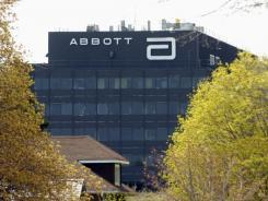 Abbott Laboratories' logo is seen on an office building in North Chicago, Ill. , where the company is headquartered.
