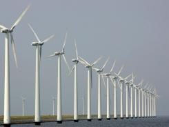 Wind turbines in Dronten, the Netherlands. File photo.