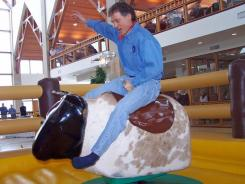Insurance provider Acuity ranked at the top of the medium-sized business list for best place to work. CEO Ben Salzmann has hosted circus-themed meetings, a company-wide chocolate-tasting party and an employee mechanical bull riding event.