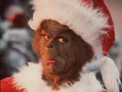"Jim Carrey as The Grinch in the 2000 movie ""Dr. Seuss' How The Grinch Stole Christmas."""