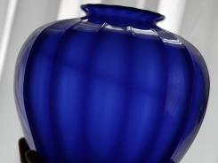 An early piece of Steuben Glass from Thomas Dimitroff's collection is shown in Corning, N.Y.