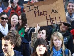 Thousands of angry citizens have protested in cities across the world in demonstrations inspired by the Occupy Wall Street protest in New York City.
