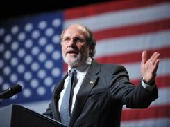 Then-Gov. Jon Corzine at a campaign rally in 2009. The Democrat lost his bid for reelection.