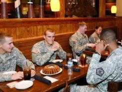 Outback Steakhouse offers free Bloomin' Onion appetizers and soft drinks to all veterans from Nov. 7-Nov. 11 in honor of Veterans Day.