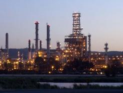 A California oil refinery.
