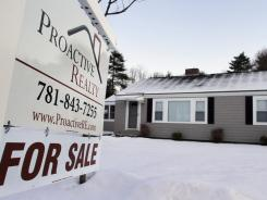 A home for sale in Millis, Mass., in January.