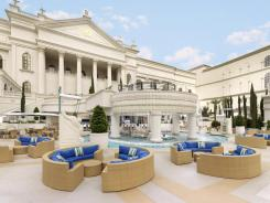 Pictured is the Garden of the Gods pool oasis in Caesars Palace in Las Vegas. Caesars Entertainment plans to go public.