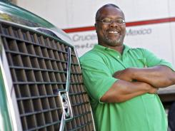 "Lewis Brown, here at a Summerville, S.C., truck stop, bought a new semi truck through a program similar to ""Cash for Clunkers."""