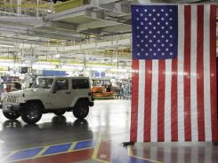 A 2012 Jeep Wrangler at  Chrysler Group's Toledo Assembly complex on June 3, 2011.