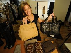 Ideeli strategy VP Barbara Levy shows off some of the 'flash sale' site's bargains.