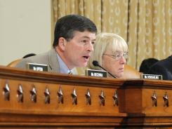 Supercommittee co-chairs Rep. Jeb Hensarling, R-Texas, and Sen. Patty Murray, D-Wash., sit together at the panel's hearing on Capitol Hill in Washington.
