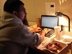UC Berkley student Ashwin Aravind has an eating schedule that is as wacky as his hours.