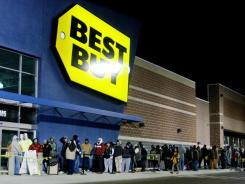 Last year, shoppers began lining up early at the Best Buy store in Nampa, Idaho, to shop for bargains on Black Friday.