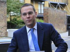 FILE - James Murdoch, CEO of News Corp. for Europe and Asia on July 19, 2011, in London.