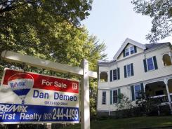 A home for sale in Newton, Mass.