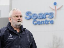 Bill McLeod, mayor of Hoffman Estates, Ill., outside the city's Sears Centre arena.