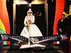 Lady Gaga at the Nov. 21 ribbon cutting of Gaga's Workshop at Barneys New York.