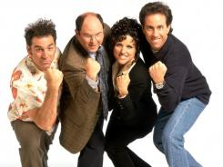 "The cast of TV's ""Seinfeld,"" including Jason Alexander, second from left, as George Costanza."