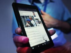Amazon's latest tablet and e-book reader is called the Kindle Fire.