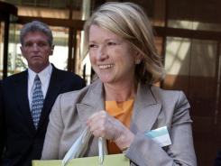 Martha Stewart leaves the Martha Stewart Living Omnimedia 2004 annual shareholders' meeting, in New York.