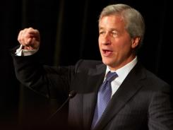 JPMorgan Chase chief Jamie Dimon speaks to a lunchtime gathering in Portland, Ore., on Nov. 3, 2011.