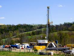 A fracking site in Bradford County, Pennsylvania.