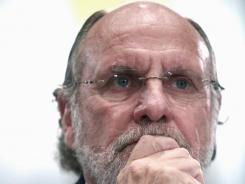 Former CEO of MF Global Jon Corzine testifies on Capitol Hill on Dec. 8, 2011,