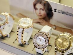Watches by Liz Claiborne are displayed at J.C. Penney, in New York.