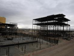 Boyd Gaming's multibillion-dollar stalled Echelon project sits idle Dec. 2, 2011, on the Las Vegas Strip.
