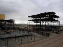 Boyd Gaming's multibillion-dollar stalled Echelon project sits idle Dec. 2, 2011, on the Las Vegas Strip.