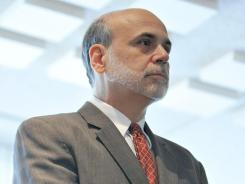 Federal Reserve Board Chairman Ben Bernanke waits to deliver remarks at a small business conference on Nov. 9, 2011, at the Federal Reserve.