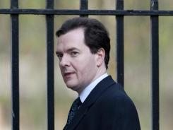 British Chancellor of the Exchequer George Osborne in front of Downing Street in central London on Dec. 14, 2011.