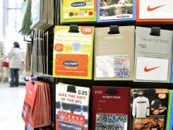 Gift cards are popular last-minute gift ideas and are readily available at drugstores and supermarkets.