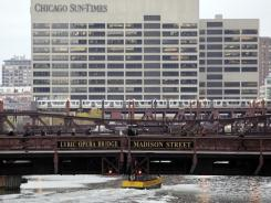 This file photo shows the Sun-Times building in Chicago.