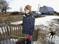Laura Frerichs, 31, on her organic farm outside Hutchinson, Minn. Frerichs discovered her passion for farming about a year after she graduated from college with an anthropology degree.