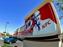 A combined Kentucky Fried Chicken-A&W restaurant in Tempe, Ariz.