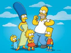 "Characters from the Fox series ""The Simpsons,"" from left, Maggie, Marge, Lisa, Homer and Bart."