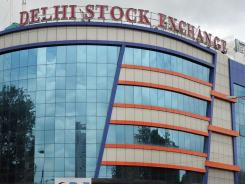 The Delhi Stock Exchange in New Delhi.
