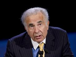 Private equity investor Carl Icahn speaking at the World Business Forum in New York four years ago.