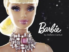 The world's most expensive Barbie, custom-designed and wearing a one-carat pink diamond necklace.