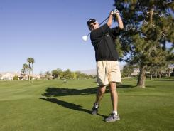 Bill Ashley, who lives in Sun City, Calif. plays 100 rounds of golf a year throughout the valley.