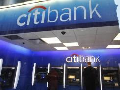 A Citibank ATM in New York City in January 2012. Citibank is owned by Citigroup.