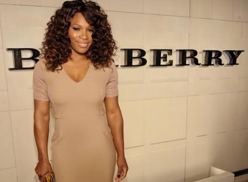 Tennis star Serena Williams at an Oct 26 2011 Burberry publicity event in