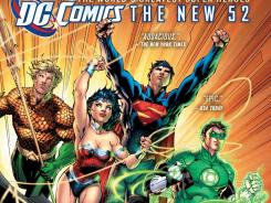 "A DC Comics promotion of its ""New 52"" lineup of superheroes."